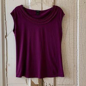 Ann Taylor purple top Size Large